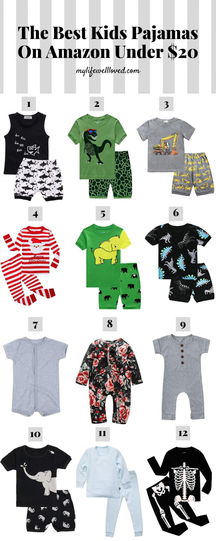 Amazon Favorites: The Best Kids Pajamas by Life + Style blogger, Heather Brown // My Life Well Loved