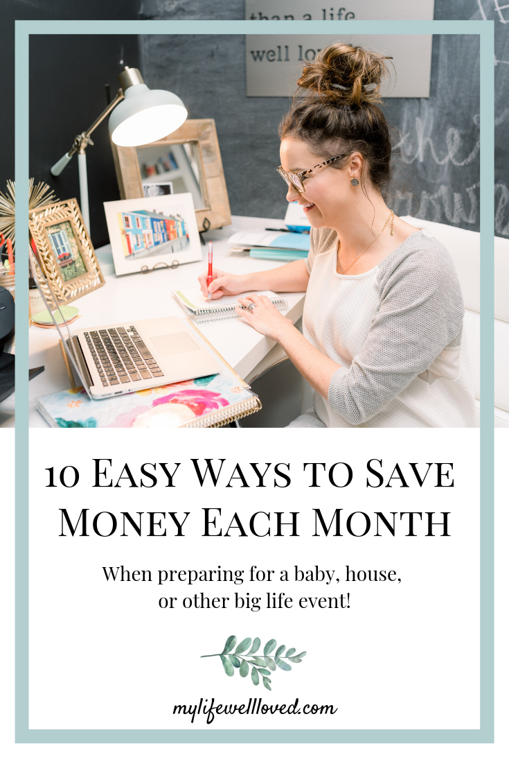 Sharing my best tips for saving money on your next big life event by Heather Brown at My Life Well Loved // #moneysavingtips #savings #biglifeeventsavings