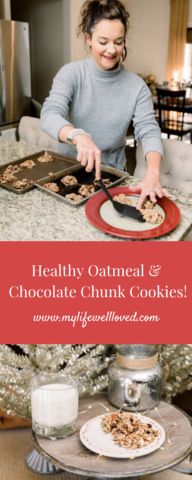 Lightened up oatmeal cinnamon cookie recipe that is perfect for Santa or Christmas with the convenience of Publix Deliver by My Life Well Loved // #cookierecipe #healthycookie #easycookie #Christmascookie