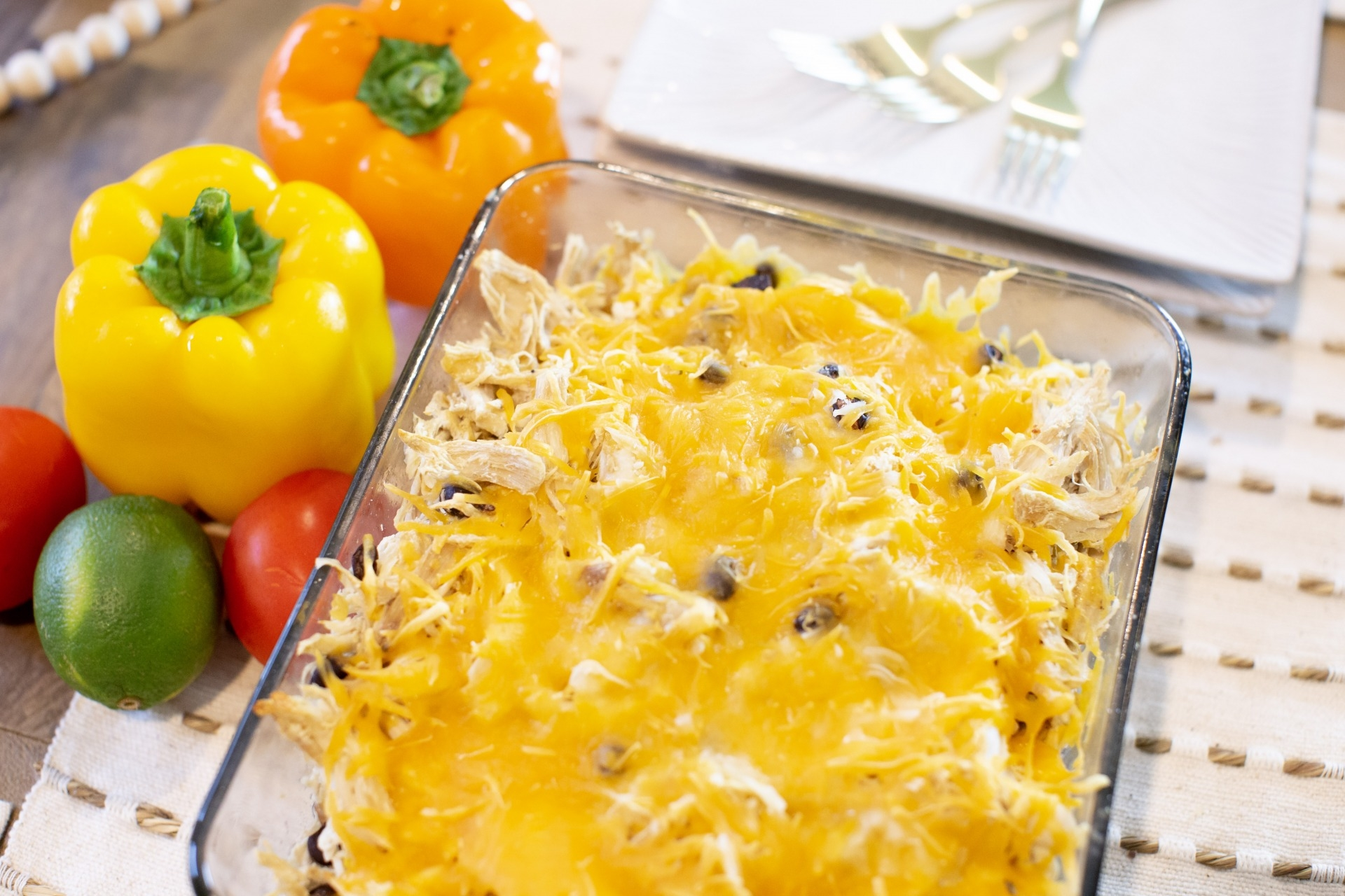 Easy Mexican Chicken Casserole by Alabama Food + Lifestyle blogger, Heather Brown // My Life Well Loved
