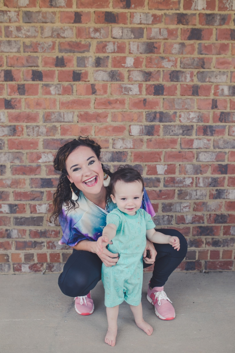 Mom and baby boy fashion: kimono athleisure wear styled several ways // fitness // pure barre style // what to wear to pure barre with Heather Brown of MyLifeWellLoved.com