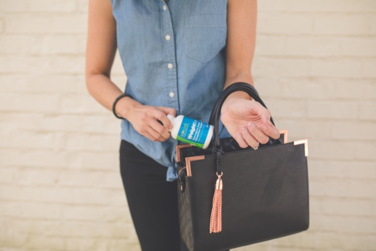 Mom Energy: How to get it and achieve it from Alabama blogger Heather of MyLifeWellLoved.com / Biokare // Black Purse // Black ripped denim // Chambray Top // Tie Up Top //