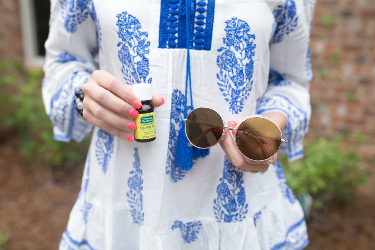 Natural Remedies for Allergy Relief from Heather of MyLifeWellLoved.com // round sunglasses // Thursday Plantation Tea Tree Oil