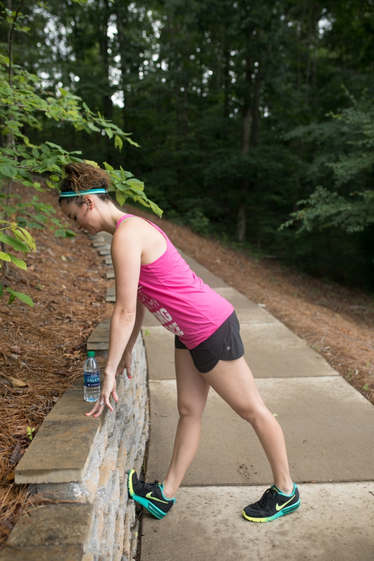 Train for a 5k with Heather Brown of MyLifeWellLoved.com // Mom fitness // athleisure outfit