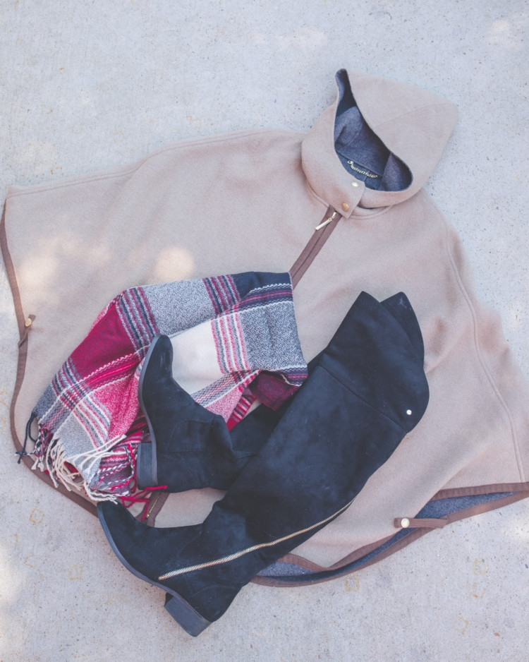 Poncho scarf and boots for fall! Mom-Friendly Nordstrom Anniversary Sale Picks from Heather of MYLifeWellLoved.com