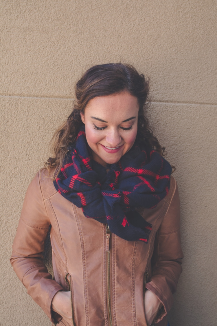 Hot to style Leather Jacket and Scarf // Mom-Friendly Nordstrom Anniversary Sale Picks from Heather of MYLifeWellLoved.com