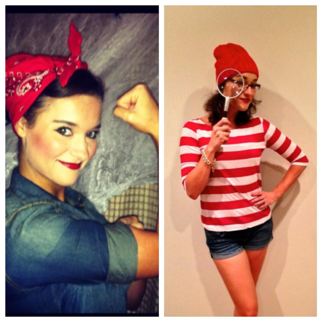 Rosie the Riveter and Where's Waldo Halloween Costume Inspiration from Heather of My Life Well Loved