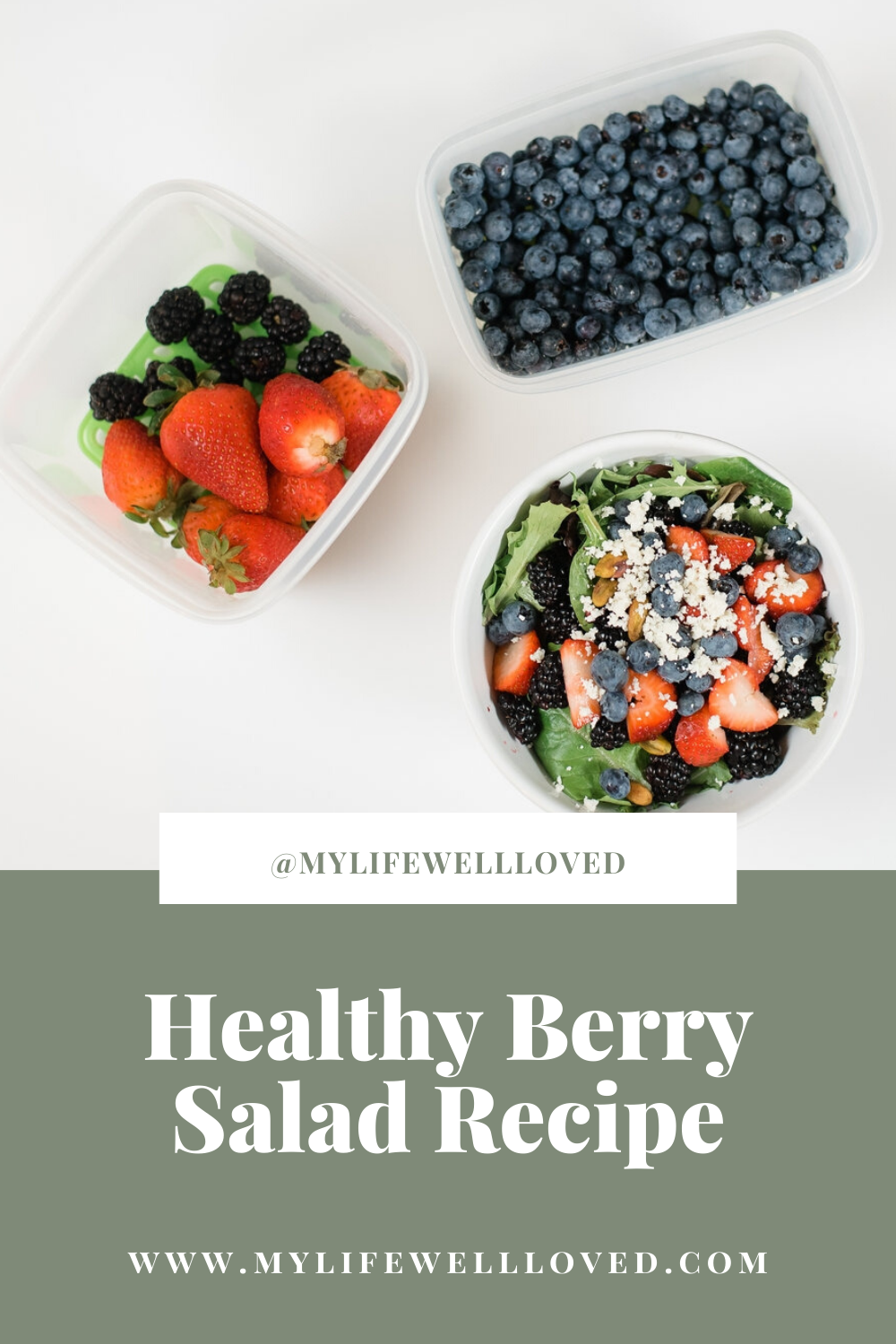 Healthy Berry Salad Recipe by Alabama Health + Food blogger, Heather Brown // My Life Well Loved