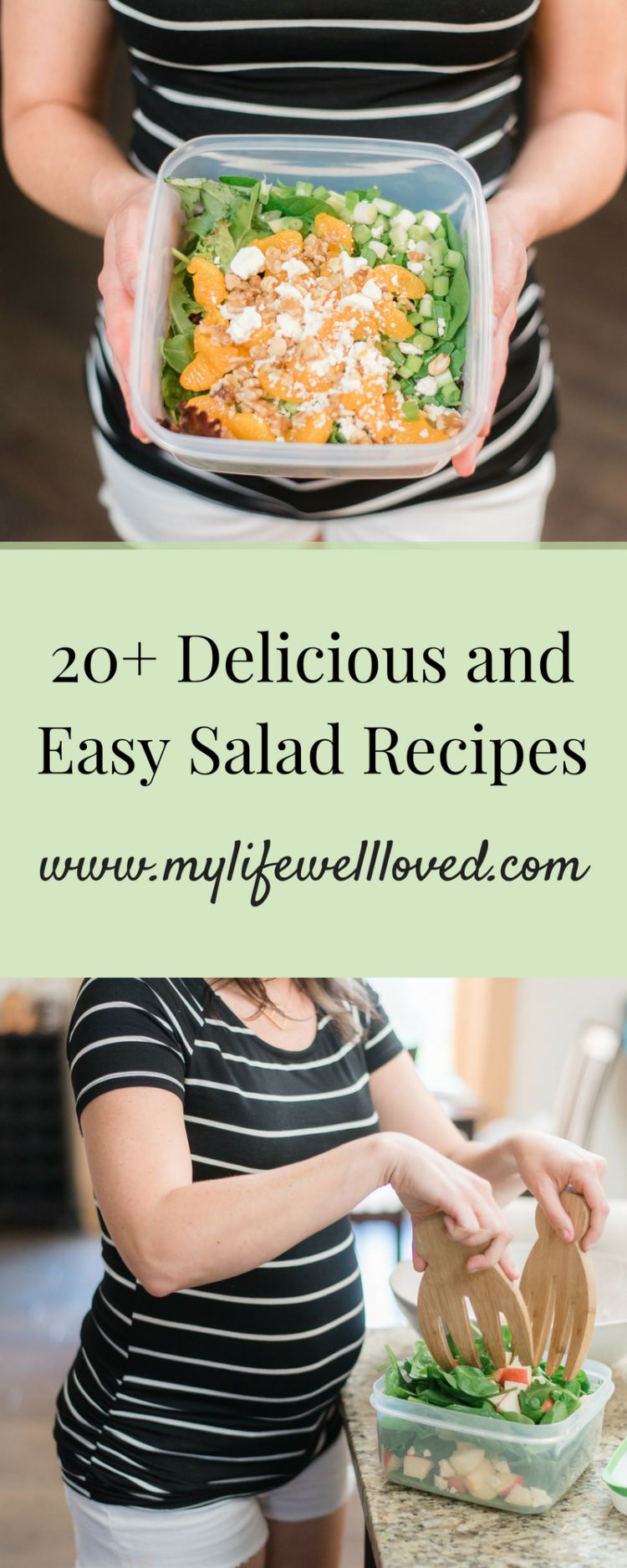 The best summer salads that are both easy and healthy for lunch or dinner by AL Lifestyle Blogger, Heather, at MyLifeWellLoved.com // #healthy #summersalads #saladrecipes #easyrecipe