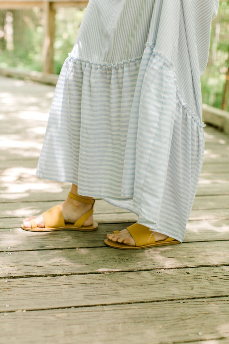 Non Maternity Dresses for Pregnancy from Alabama blogger Heather of MyLifeWellLoved.com // target sandals // #bumpstyle #pregnancy