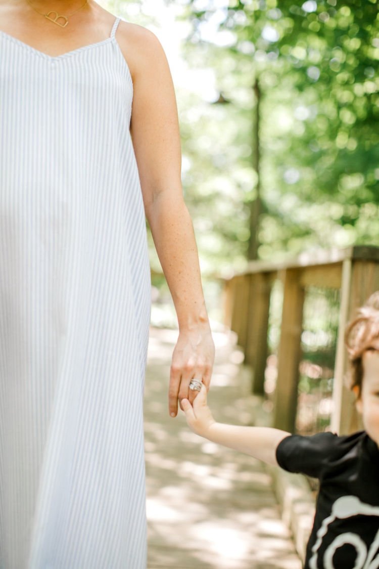 Non Maternity Dresses for Pregnancy from Alabama blogger Heather of MyLifeWellLoved.com // mommy and son fashion // #bumpstyle #pregnancy