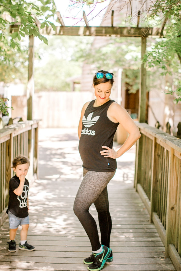 booty challenge with alabama healthy lifestyle blogger Heather of MyLifeWellLoved.com // mom workouts for the glutes / Squats Challenge #pregnantworkout