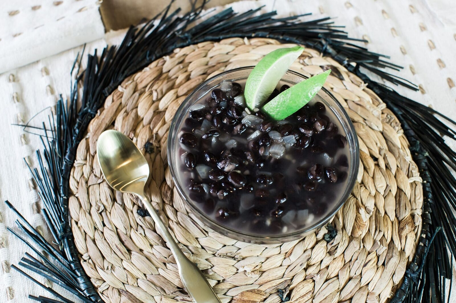 Creamy Clean Eating Black Bean Soup by Alabama Life + Style Blogger, Heather Brown // My Life Well Loved