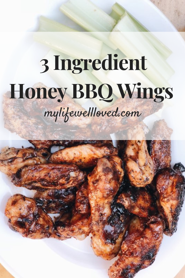 Honey BBQ Wings Recipe that is easy, delicious, quick to make, and healthy by Heather Brown, Birmingham Blogger at MyLifeWellLoved.com // #quickrecipe #easymeal #mealsonthegrill #honeybbq