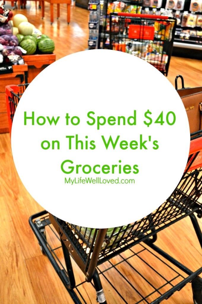 $40 Weekly Grocery Budget Challenge by popular Alabama lifestyle blogger Heather of My Life Well Loved