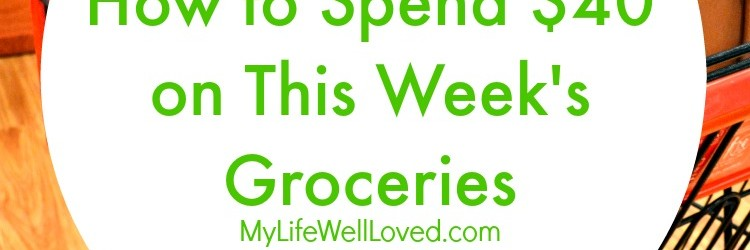 $40 Weekly Grocery Challenge