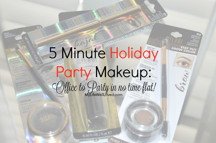 5 Minute Holiday Makeup- My Life Well Loved - 5 Minute Holiday Party Makeup by Alabama style blogger My Life Well Loved