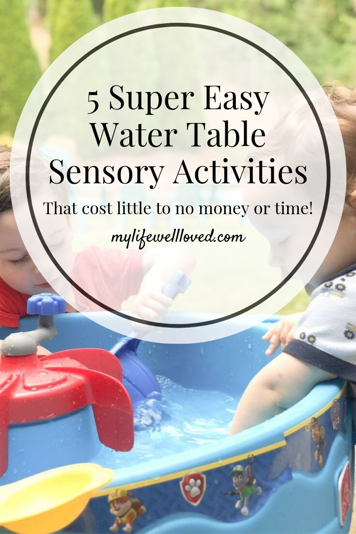 5 Super Fun Sensory Water Table Activities by Life + Style Blogger, Heather Brown // My Life Well Loved