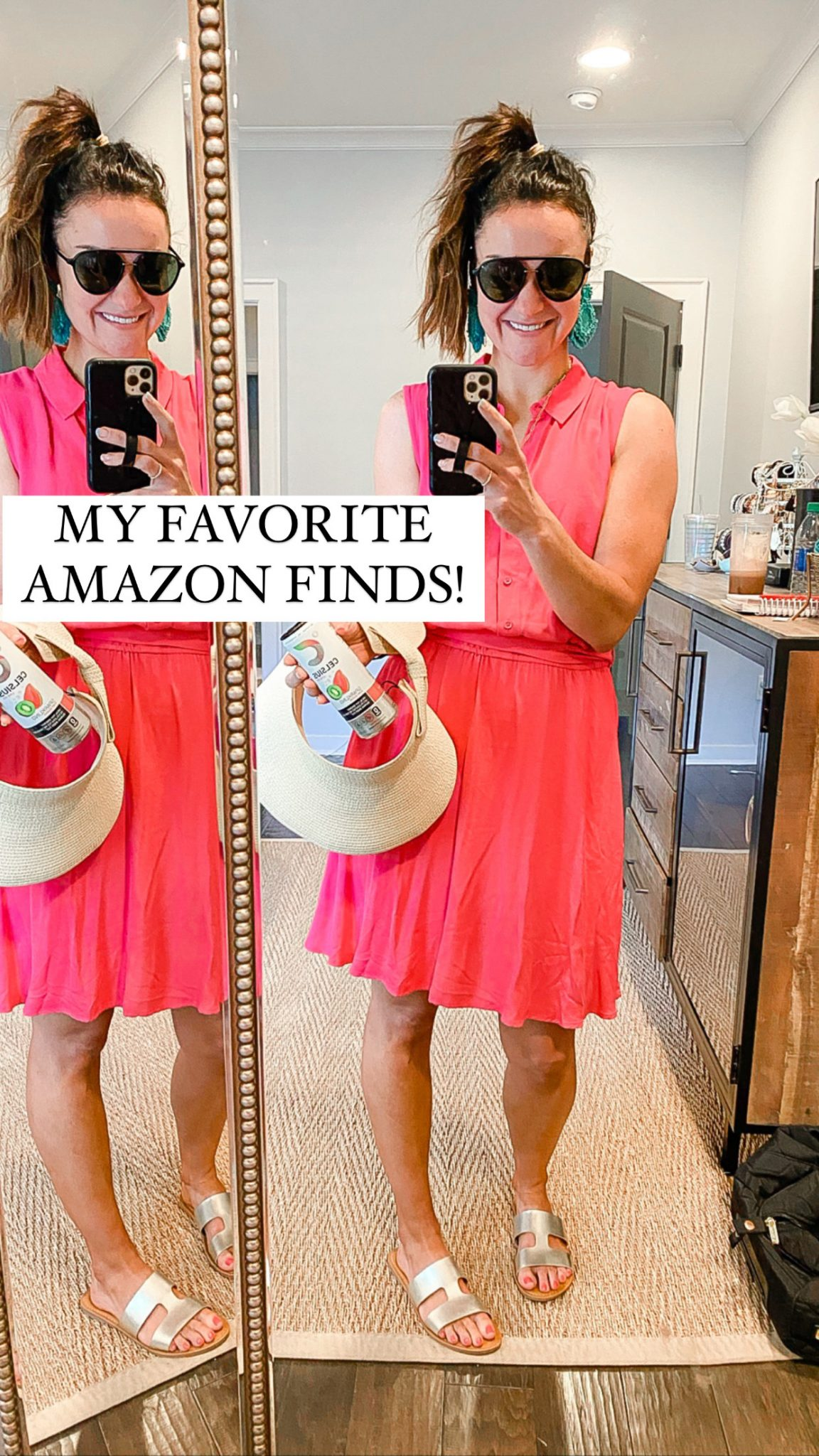 favorite amazon finds, pink dress