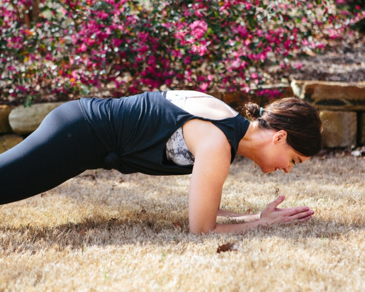 Pregnancy Plank Modifications by popular Alabama fitness blogger and expecting mom My Life Well Loved