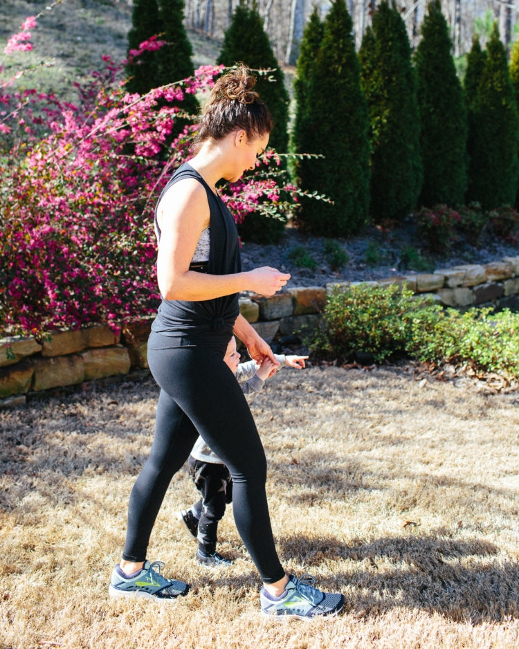 Plank Challenge Pregnancy Modifications from Fitness Alabama blogger Heather of mylifewellloved.com // marble sports bra #plankchallenge #fitness mommy and son workout