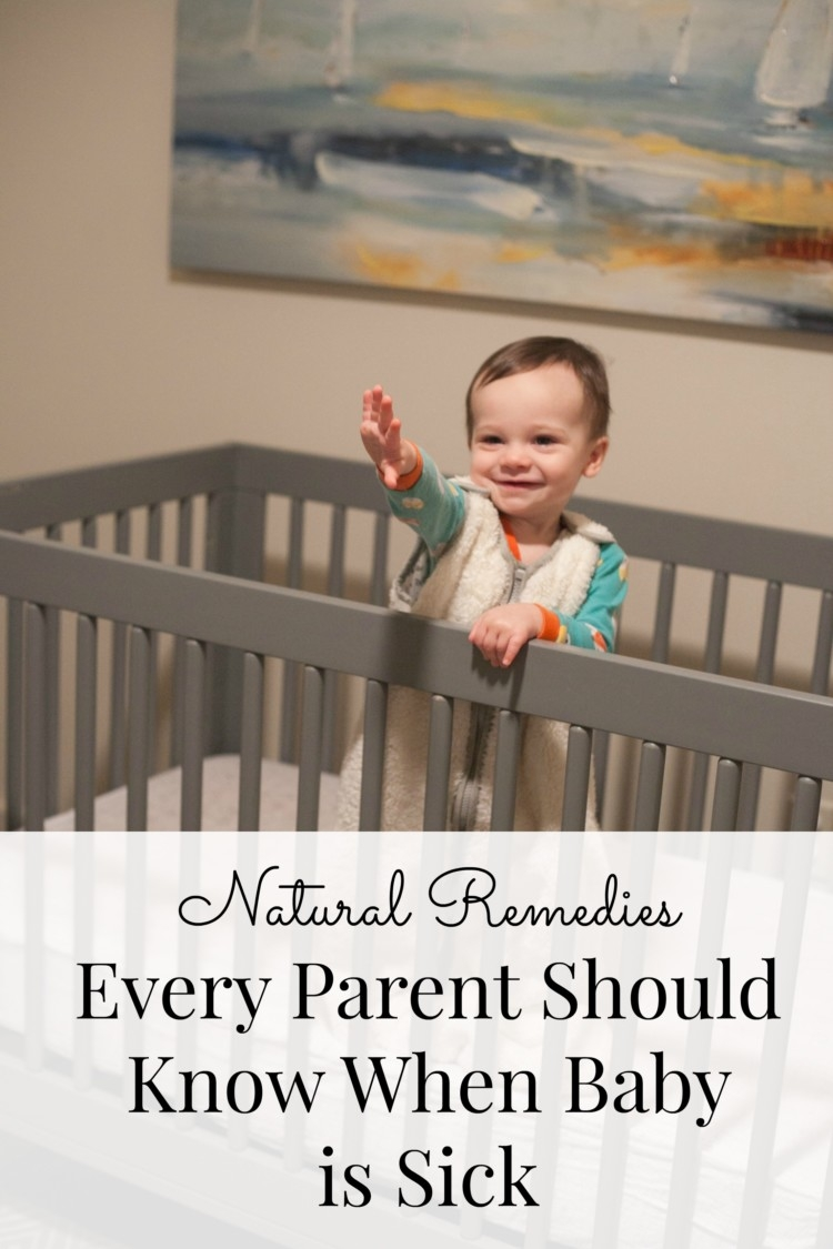 All-natural remedies for when baby is sick from Heather Brown of MyLifeWellLoved.com // All-natural health // What to do when baby is sick // baby congestion