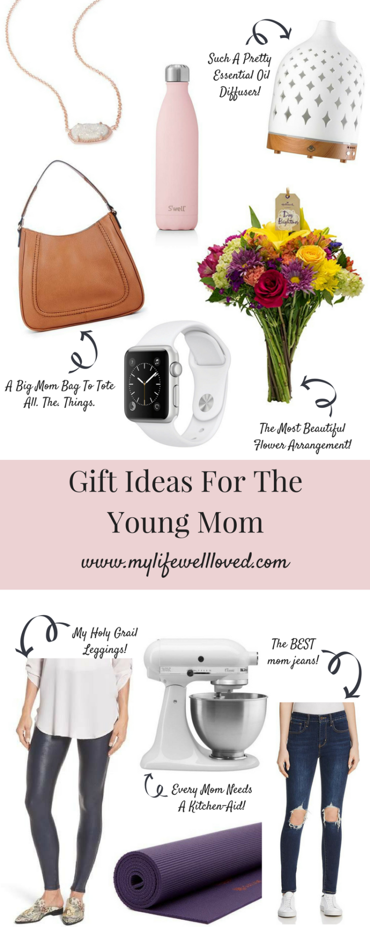 All the gift ideas you could need for a young mom by Birmingham healthy life + style blogger, Heather Brown. #mothersday #giftsforher #giftguide