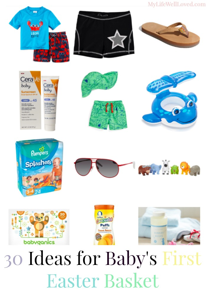 Easter Basket Ideas for 6 Month Old to One Year with shoppable links included
