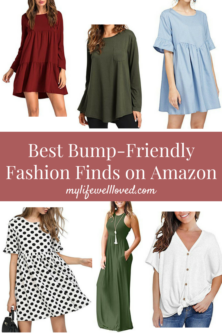 849e8b9429f Amazon s Best Bump-Friendly Fashion Finds with Alabama blogger Heather of  MyLifeWellLoved.com  . Maroon Long-Sleeve Dress ...
