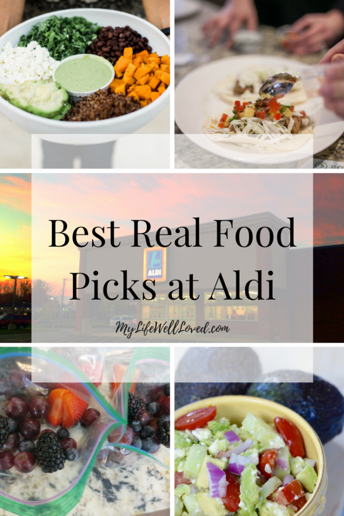 Best Real Food Picks at Aldi from Heather Brown of MyLifeWellLoved.com // Clean Eating Picks at Aldi // Real food buys at Aldi for clean eating on a budget