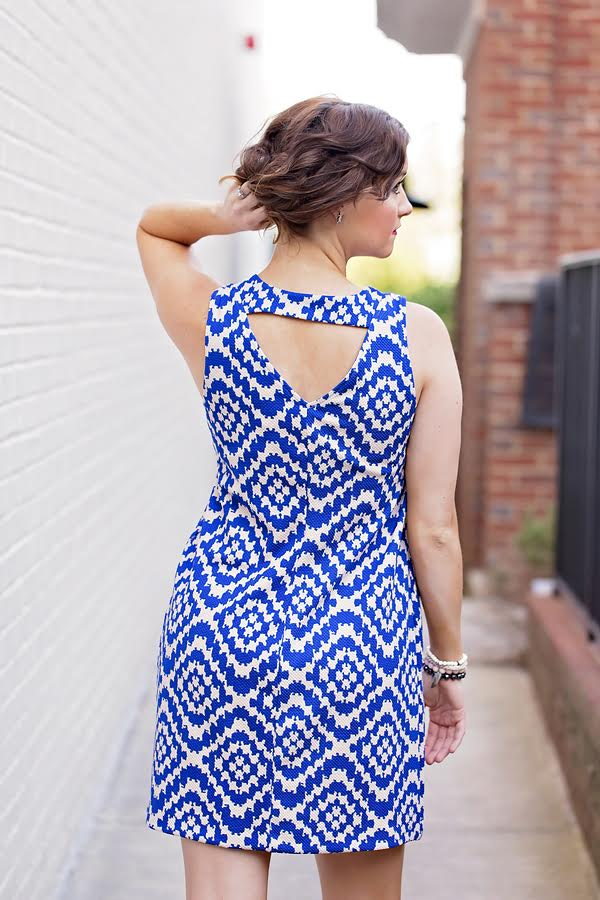 Blue Maternity Dress- My Life Well Loved