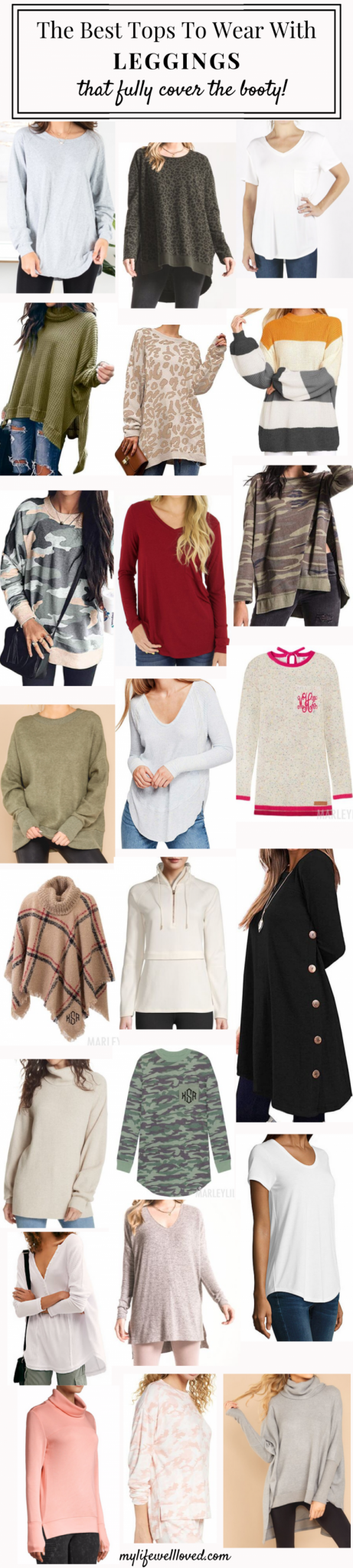 Top 22 Best Tops To Wear With Leggings This Fall By Life + Style Blogger, Heather Brown // My Life Well Loved