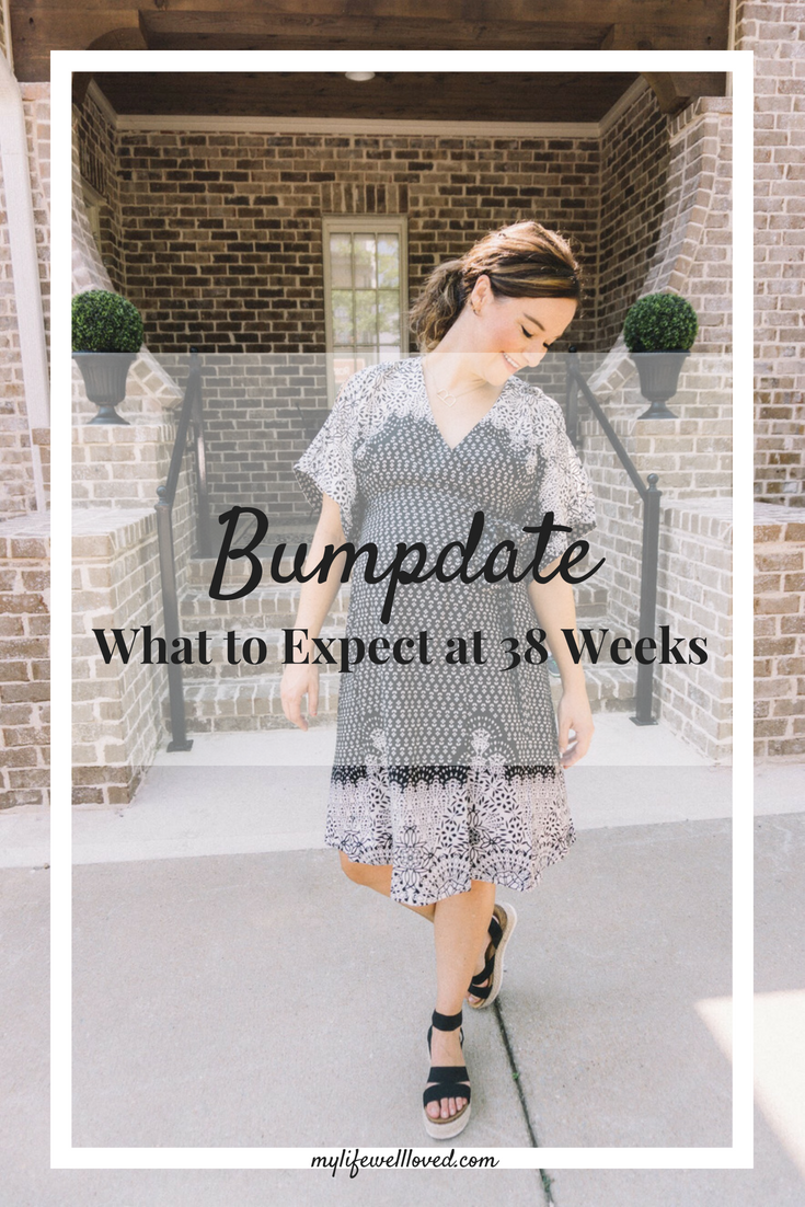 Thirty-Eight Weeks Pregnant Bumpdate by AL Life + Style Blogger, Heather, at MyLifeWellLoved.com // #bumpdate #38weeks #pregnancy
