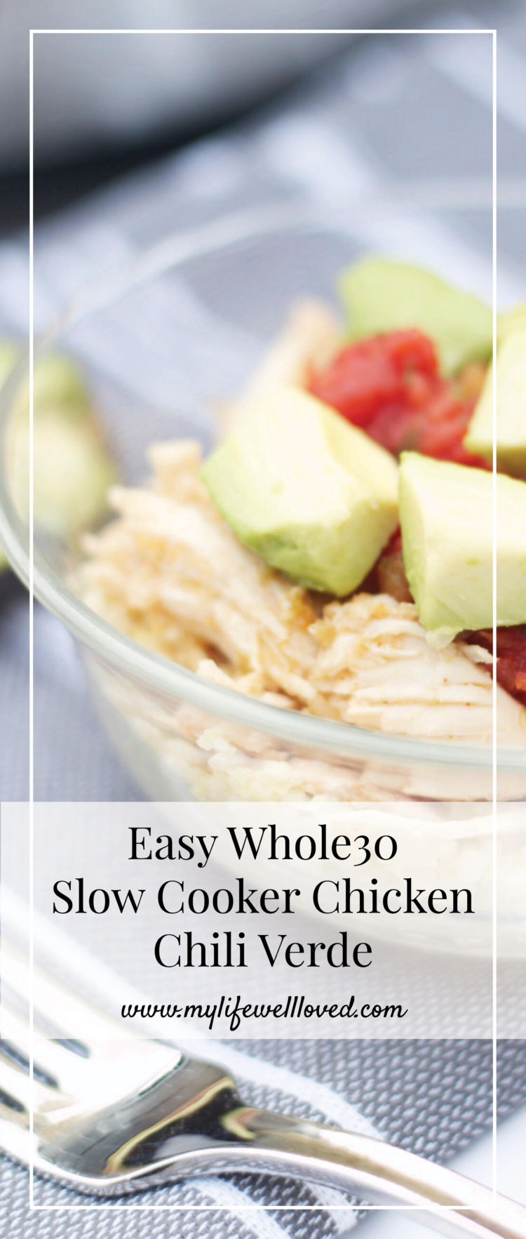 easy whole 30 slow cooker chicken verde by alabama blogger heather brown // healthy meals // crock pot recipes //