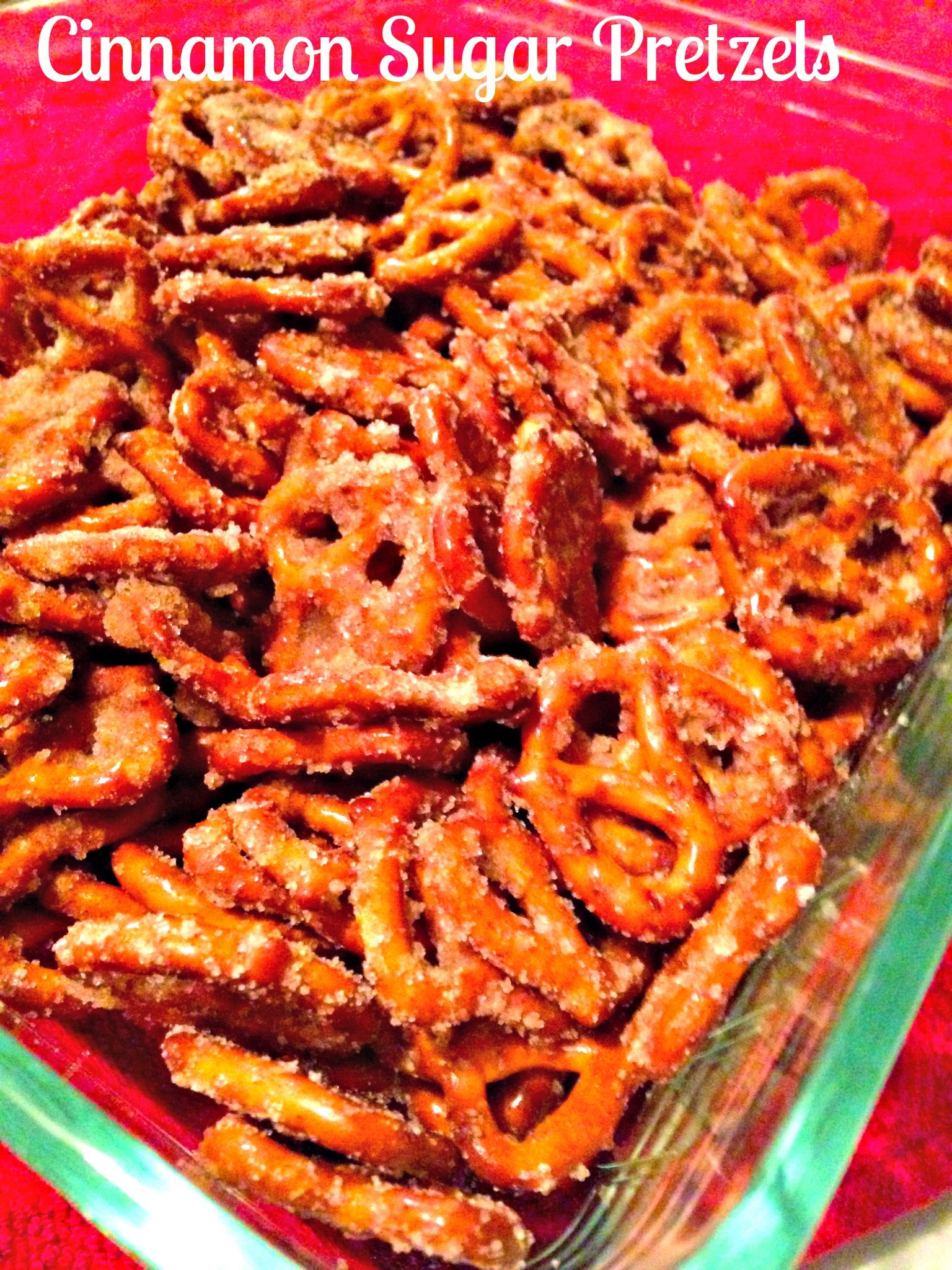 Easy Cinnamon Sugar Pretzel Snack