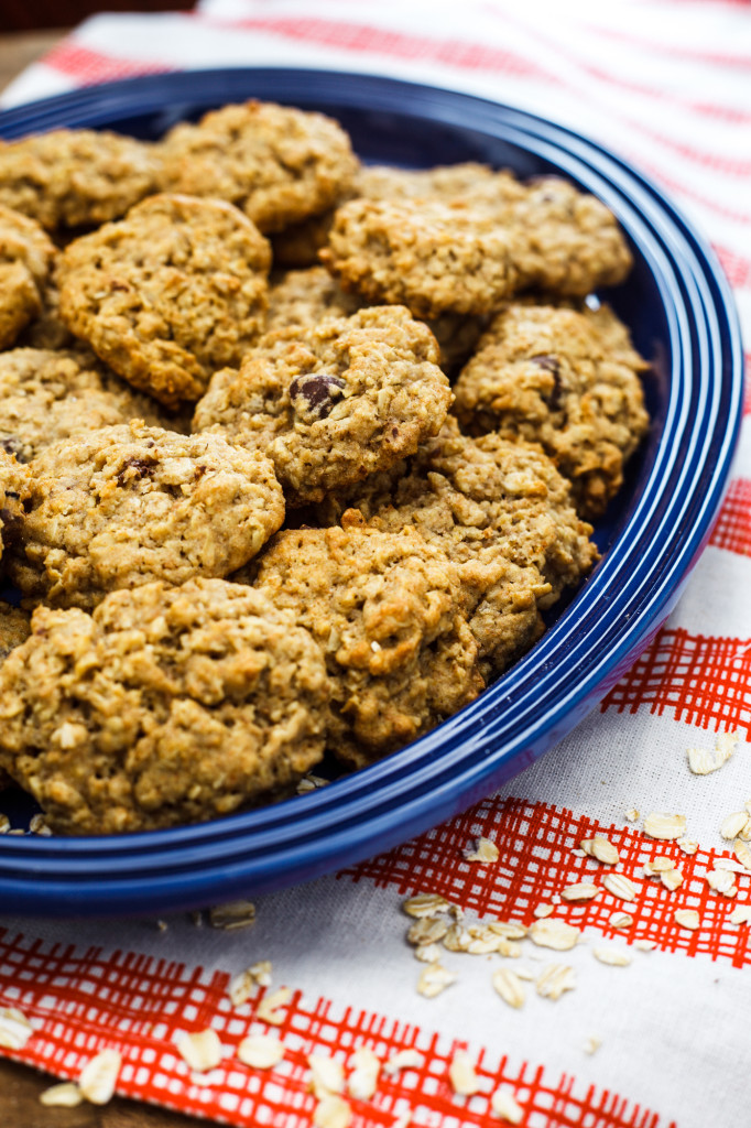 Oatmeal Dark Chocolate Cookies: Made with whole wheat and dark chocolate chips to up the health ante