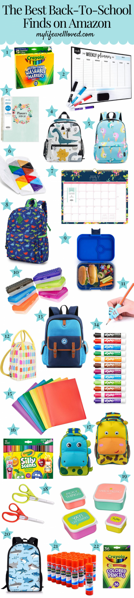 The Best Back-to-School Finds on Amazon by Life + Style blogger, Heather Brown // My Life Well Loved