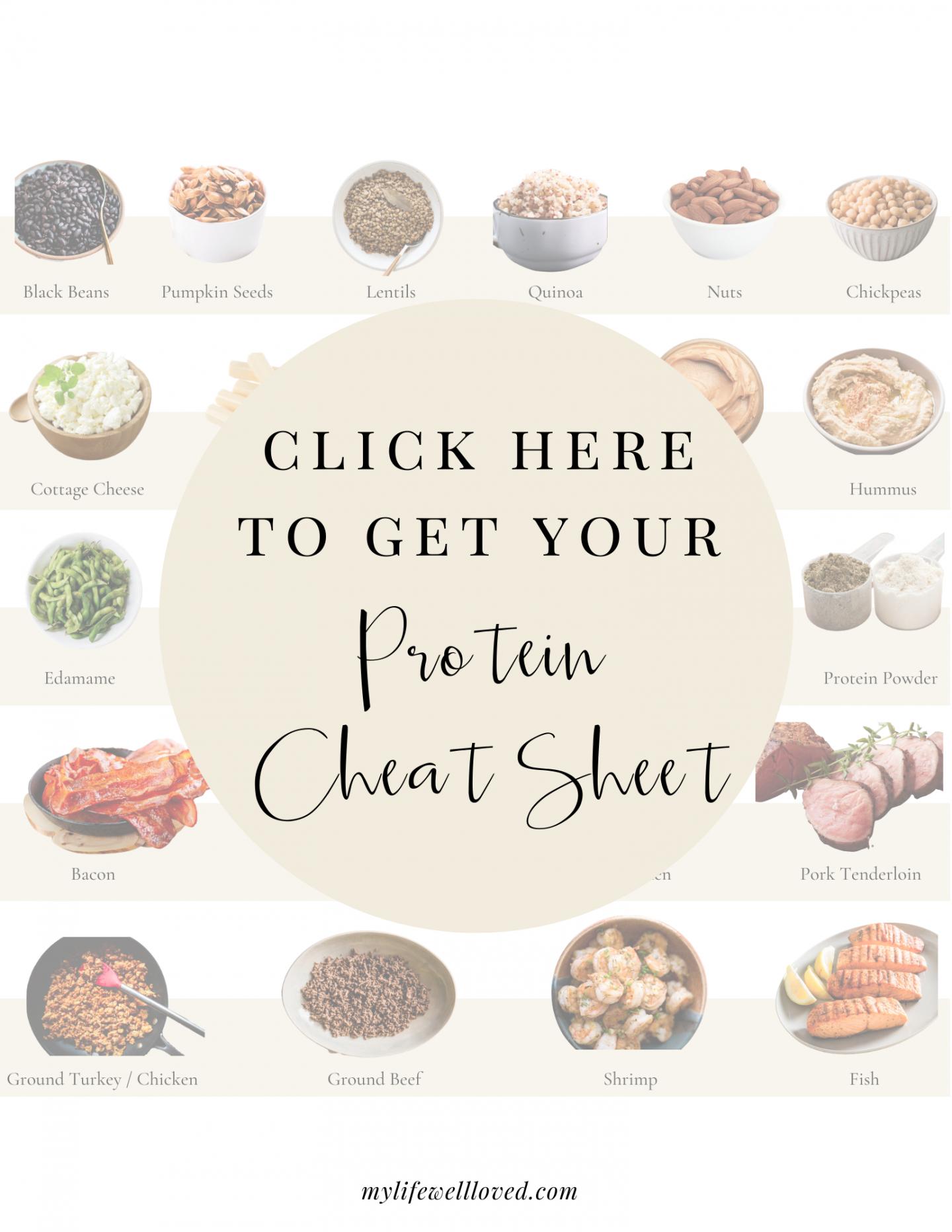protein cheat sheet