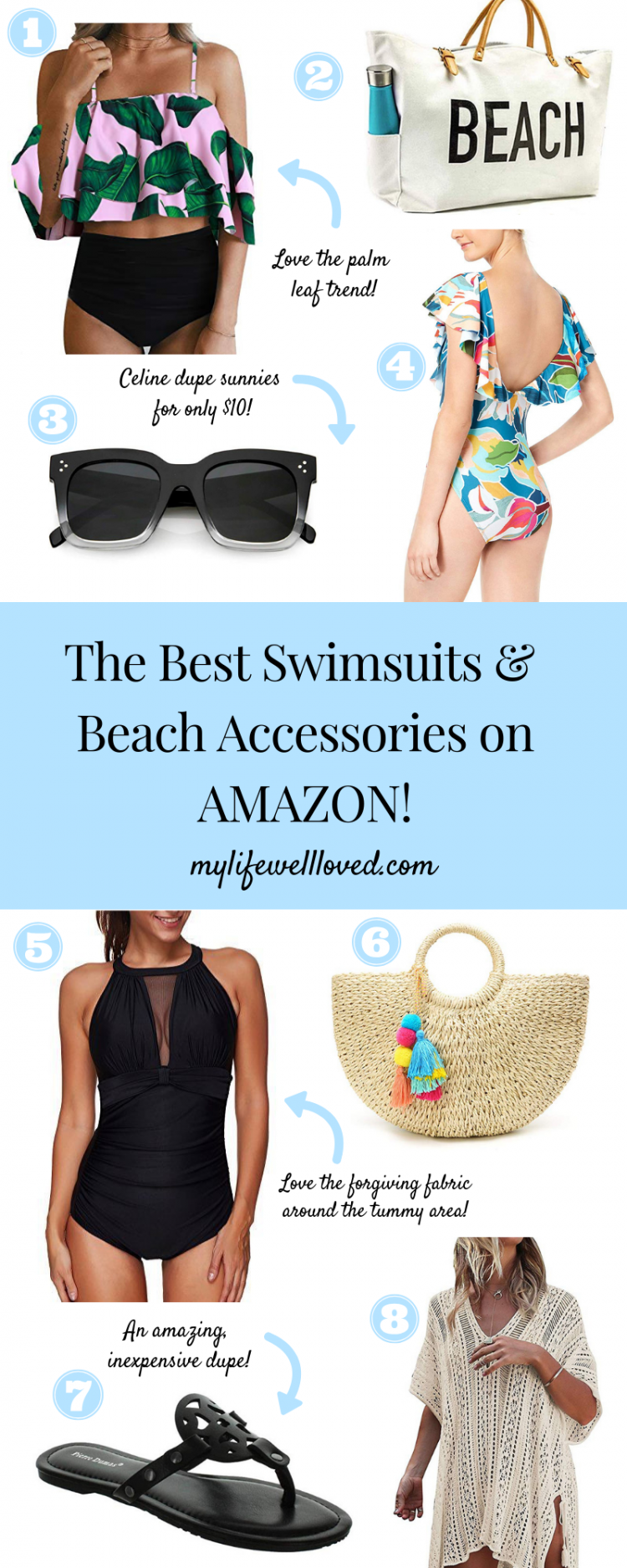 Sharing my favorite swimsuits and accessories for the season by Alabama lifestyle blogger, Heather Brown // My Life Well Loved