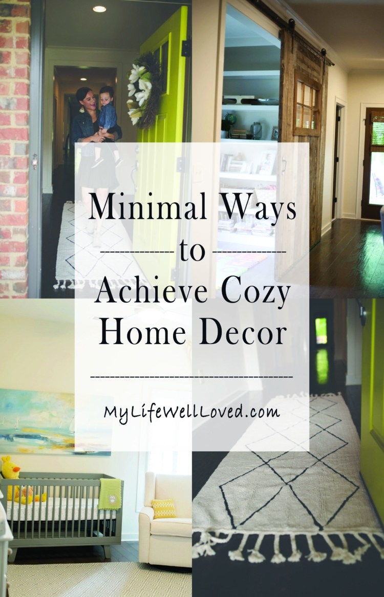 Cozy home decor from heather of mylifewellloved.com // minimal home decor // how to decorate on a budget