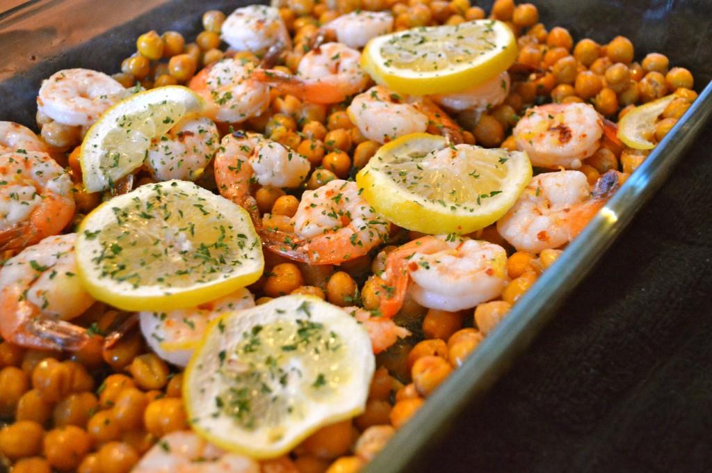 Lemon Shrimp with Chickpeas