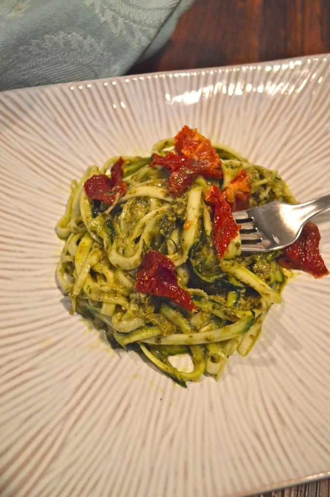 Gluten Free Pesto Noodles