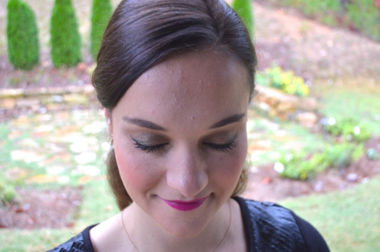 5 Minute Holiday Party Makeup by Alabama style blogger My Life Well Loved