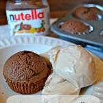 Whole Wheat Nutella Brownie Muffins