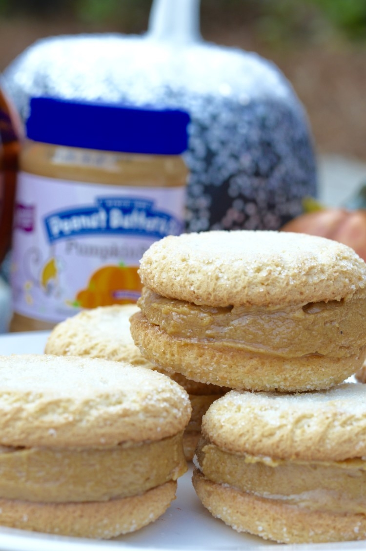 Easy Cheater's Pumpkin Peanut Butter Cookie Sandwiches Dessert Recipe from Heather Brown of My Life Well Loved - Pumpkin Peanut Butter Cookie Sandwiches by Alabama foodie blogger My Life Well Loved