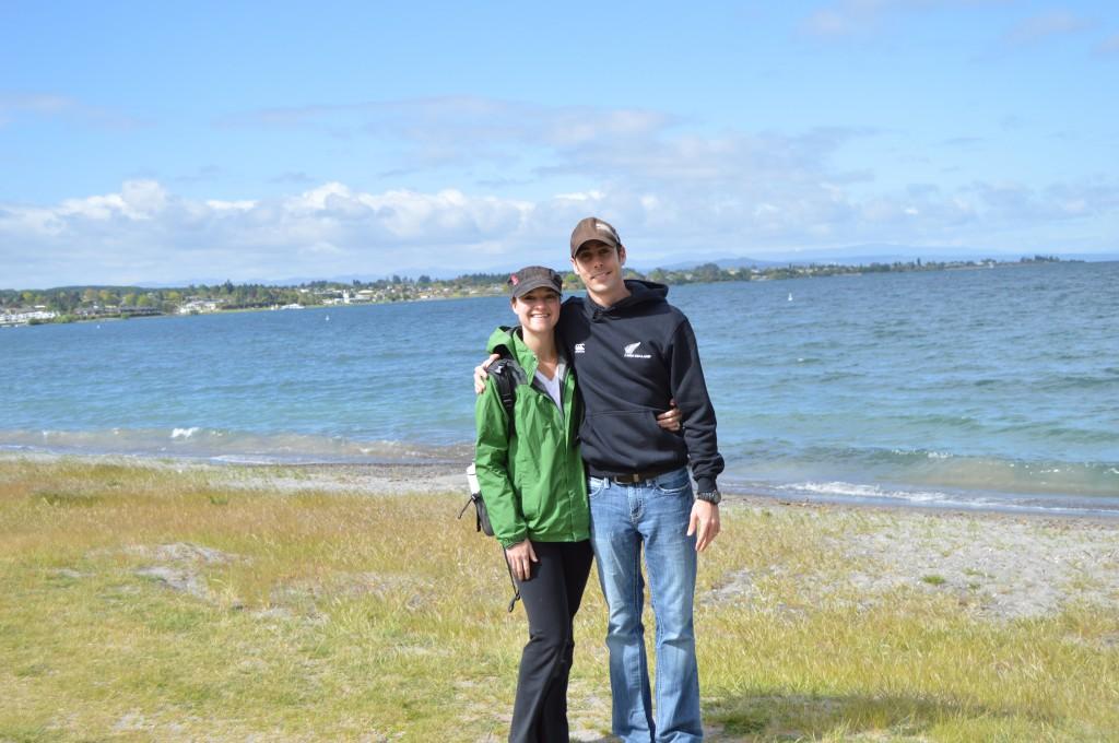 Us by Lake Taupo