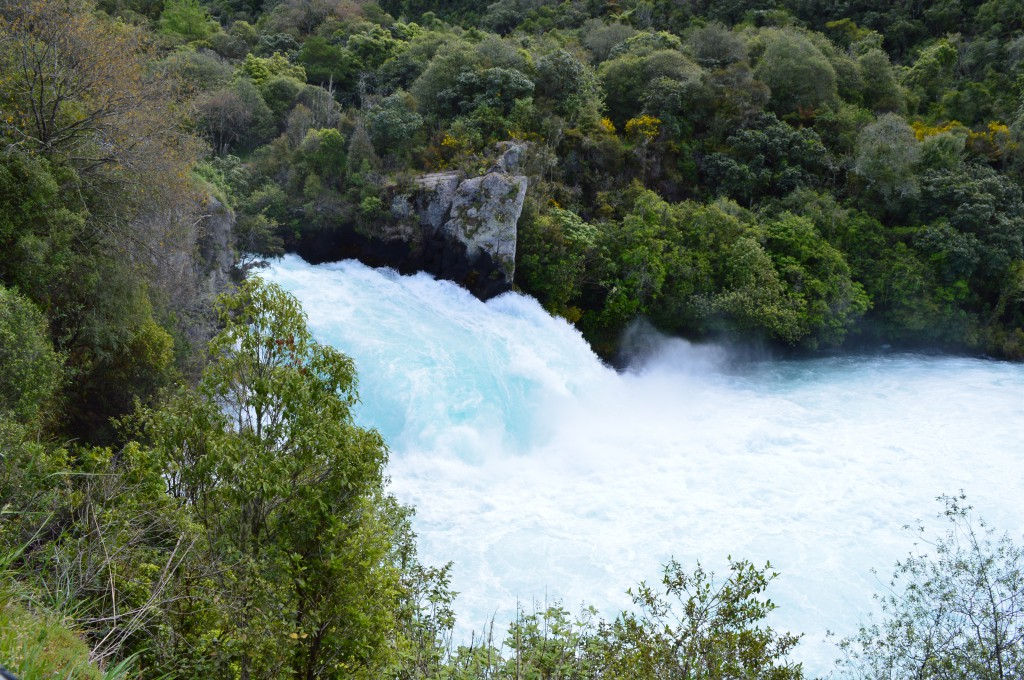 Huka Falls is the most unbelievable amount of water I've ever seen rushing through a little cut out like that. Unbelievably beautiful!