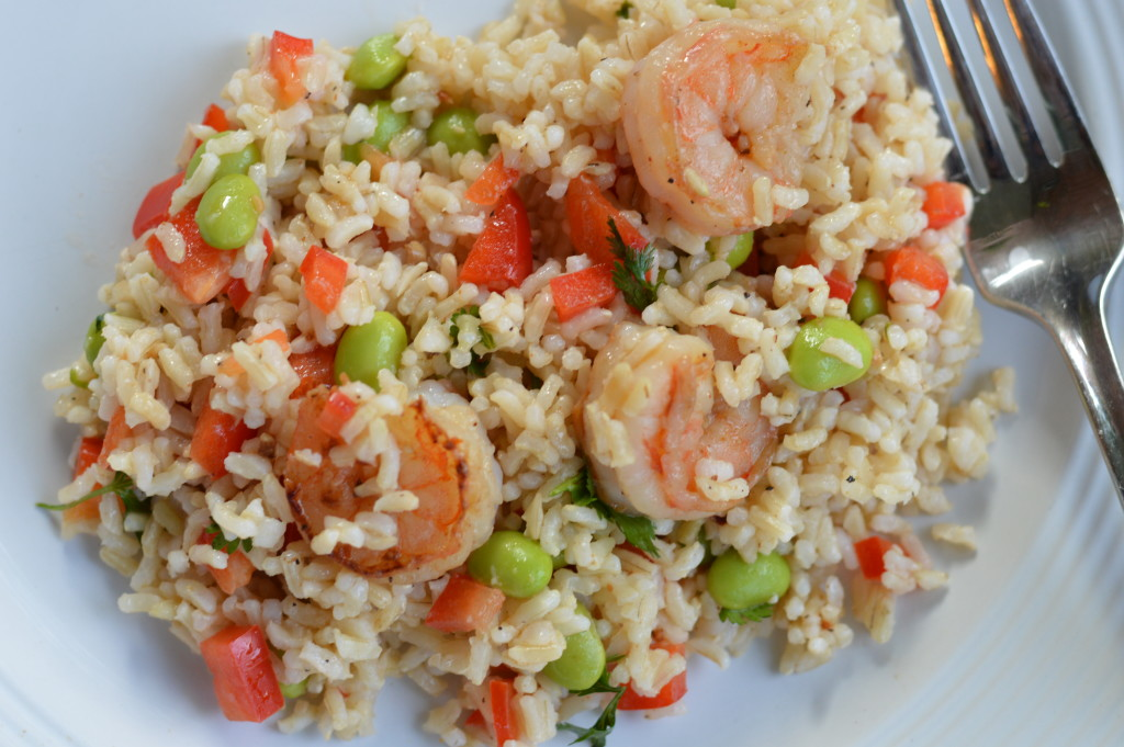 Clean Eating Edamame and Shrimp Recipe