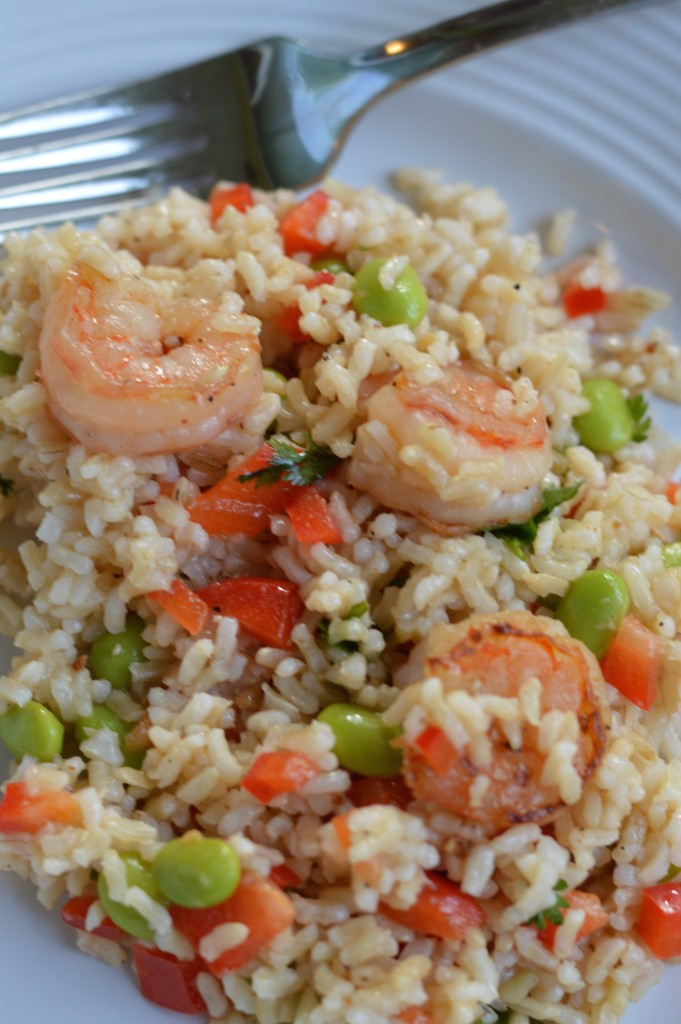 Clean Eating Recipe for Shrimp and Edamame Chilled Salad, so good!