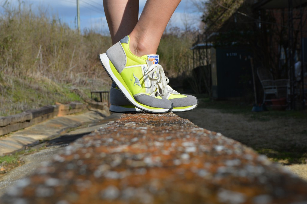 Bright workout shoes